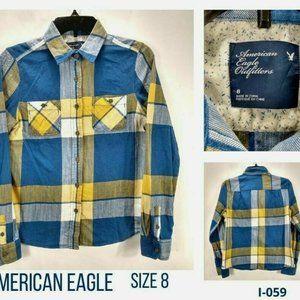 COPY - American Eagle Womens 8 Boyfriend Shirt
